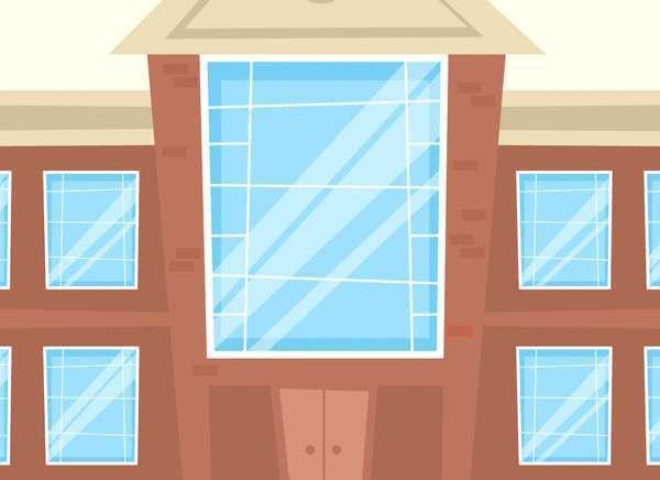 Tutorial Menggambar ilustrasi Vektor Bangunan Flat Design 12