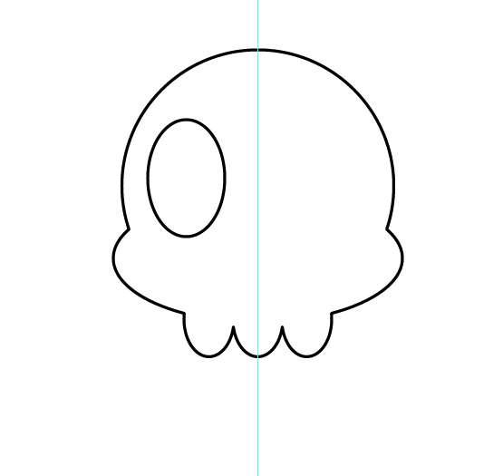 Tutorial Vektor Flat Design Tengkorak di Adobe Illustrator 06