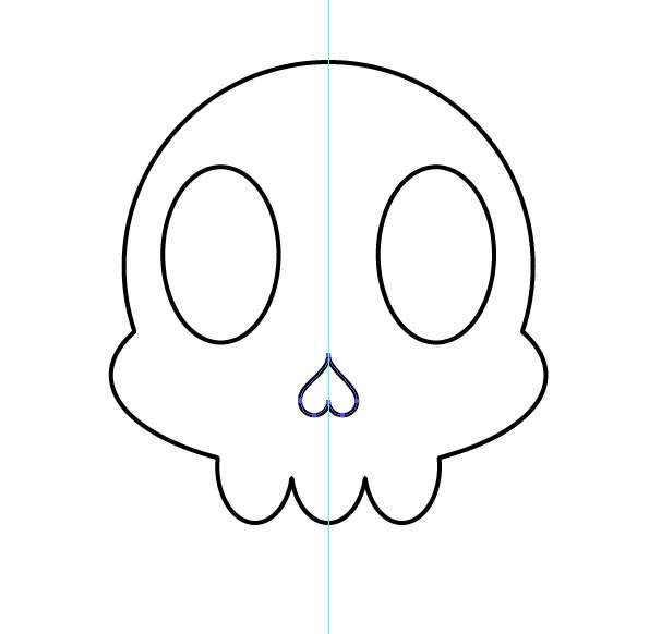 Tutorial Vektor Flat Design Tengkorak di Adobe Illustrator 10
