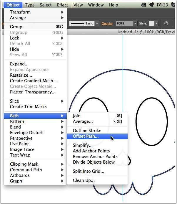 Tutorial Vektor Flat Design Tengkorak di Adobe Illustrator 13