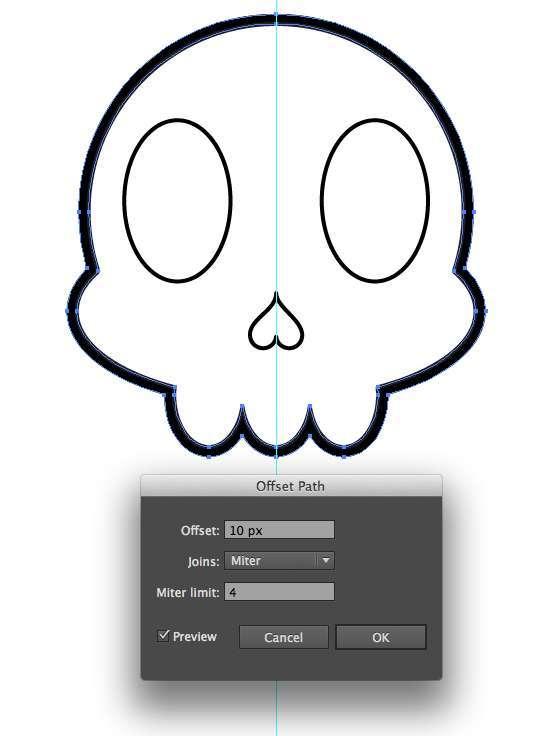 Tutorial Vektor Flat Design Tengkorak di Adobe Illustrator 14