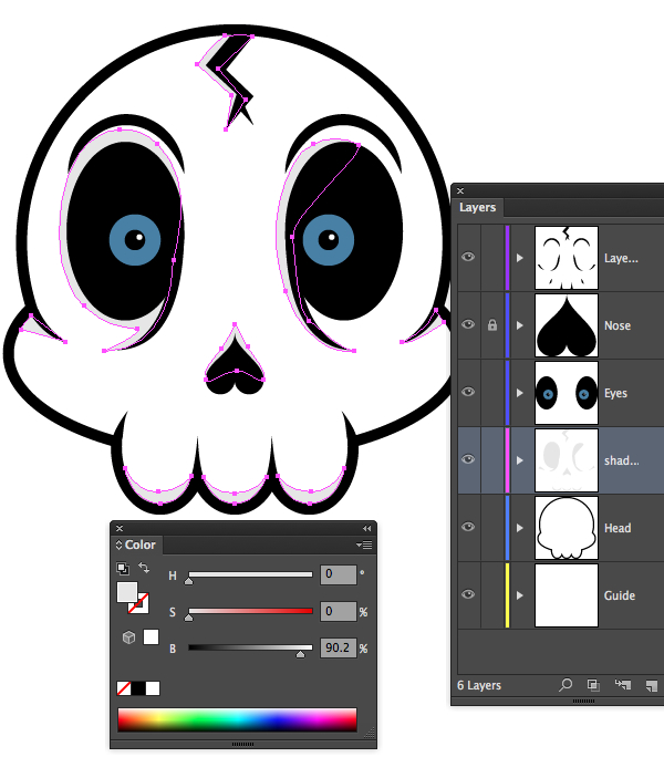 Tutorial Vektor Flat Design Tengkorak di Adobe Illustrator 22