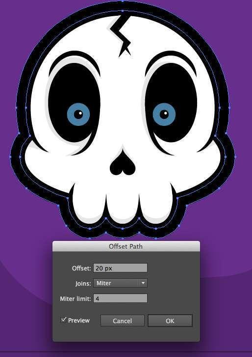 Tutorial Vektor Flat Design Tengkorak di Adobe Illustrator 26