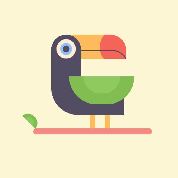 Tutorial-Membuat-Flat-Design-Burung-Tropis-di-Adobe-Illustrator-CC 10