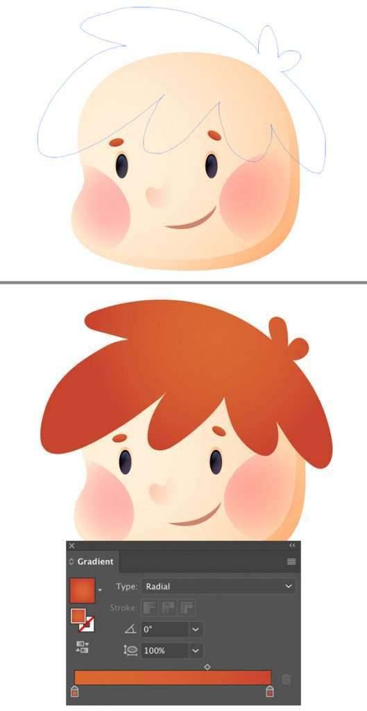 Tutorial Membuat Ikon Anak Kecil di Adobe Illustrator CC 11