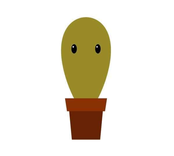Tutorial Membuat Karakter Kaktus Lucu di Adobe Illustrator CC 17