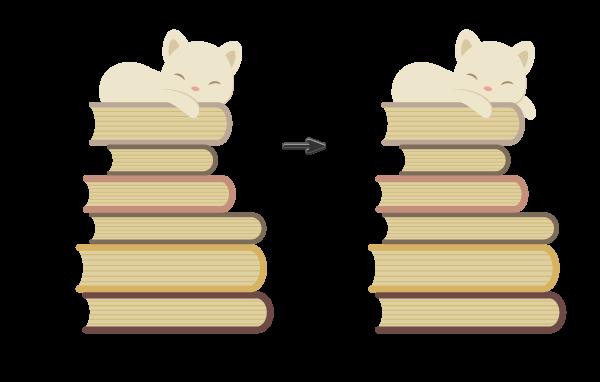 Tutorial Membuat Karakter Kucing dan Tumpukan Buku di Adobe Illustrator CC 18