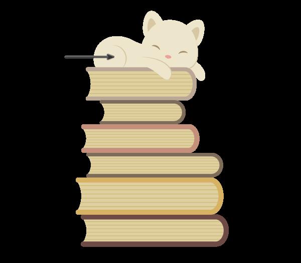 Tutorial Membuat Karakter Kucing dan Tumpukan Buku di Adobe Illustrator CC 19