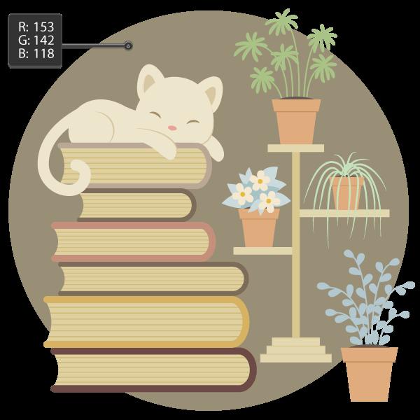 Tutorial Membuat Karakter Kucing dan Tumpukan Buku di Adobe Illustrator CC 35
