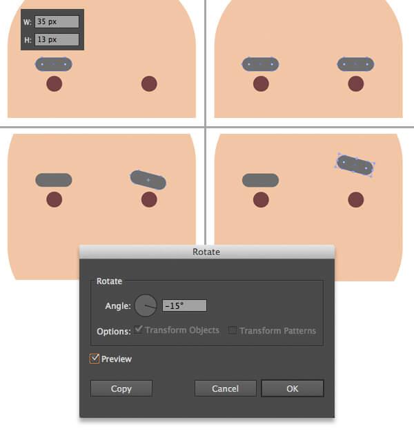 Tutorial Flat Design Karakter Hipster di Adobe Illustrator CC 03