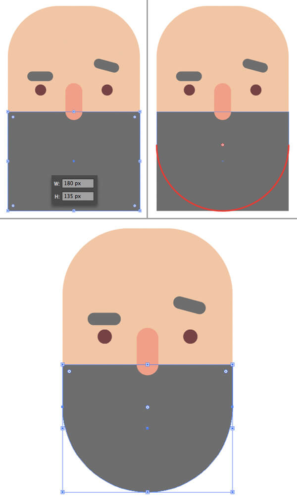 Tutorial Flat Design Karakter Hipster di Adobe Illustrator CC 05