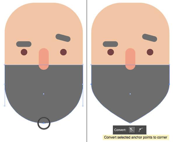 Tutorial Flat Design Karakter Hipster di Adobe Illustrator CC 06
