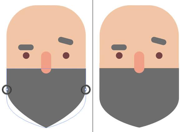Tutorial Flat Design Karakter Hipster di Adobe Illustrator CC 07