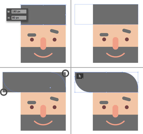 Tutorial Flat Design Karakter Hipster di Adobe Illustrator CC 09