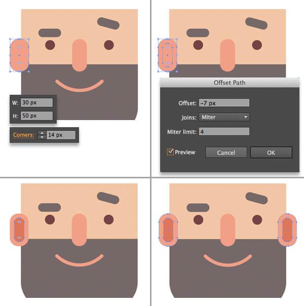 Tutorial Flat Design Karakter Hipster di Adobe Illustrator CC 10
