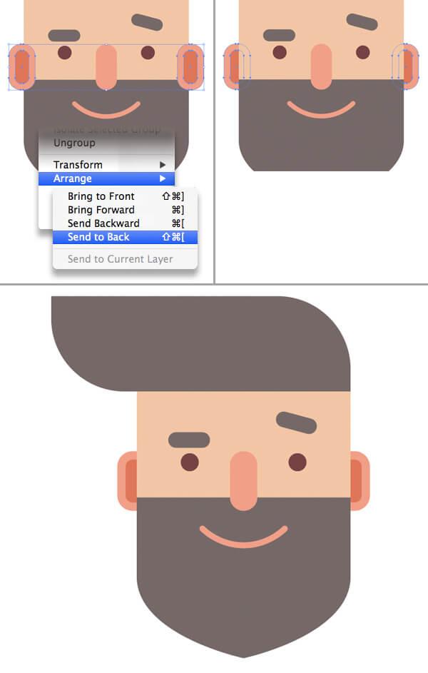 Tutorial Flat Design Karakter Hipster di Adobe Illustrator CC 11