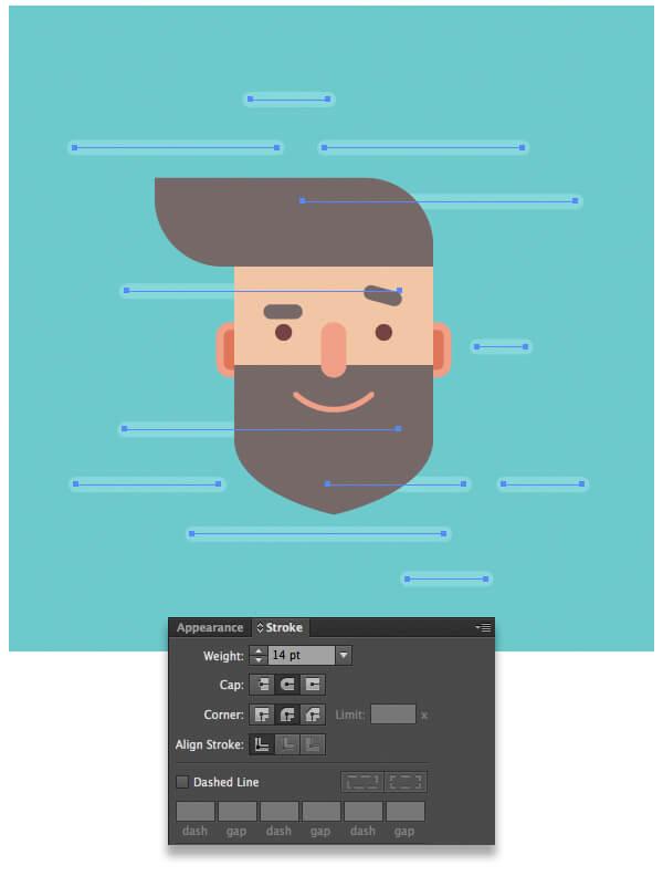 Tutorial Flat Design Karakter Hipster di Adobe Illustrator CC 12