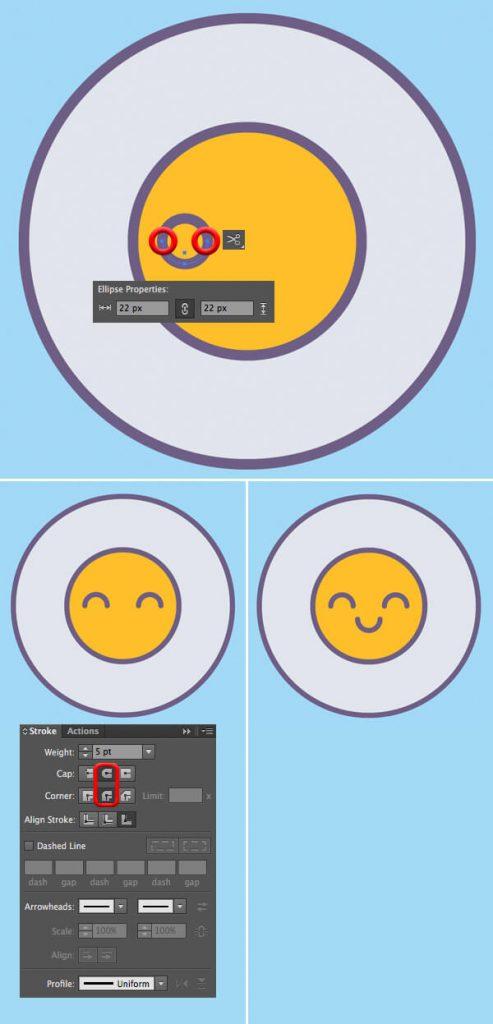 Tutorial Membuat Vektor Telur di Adobe Illustrator CC 03
