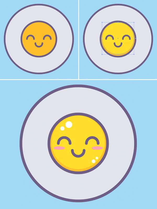 Tutorial Membuat Vektor Telur di Adobe Illustrator CC 04