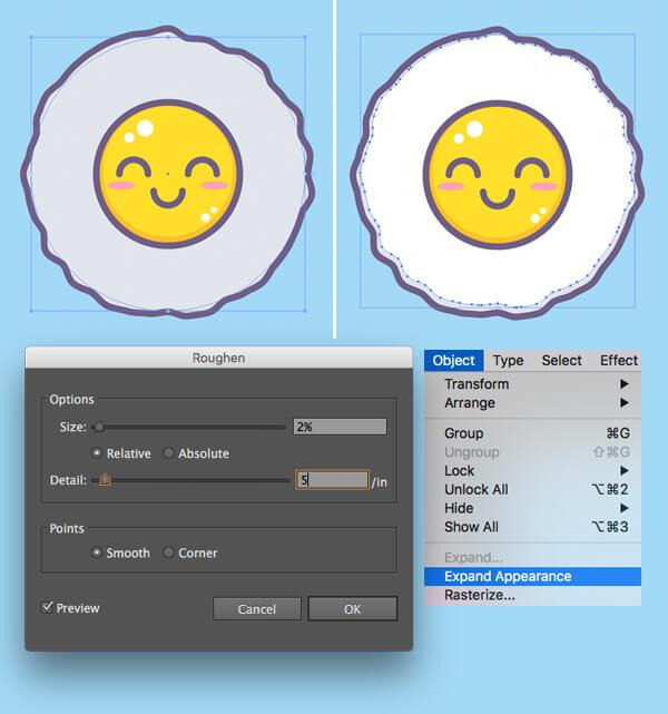 Tutorial Membuat Vektor Telur di Adobe Illustrator CC 05
