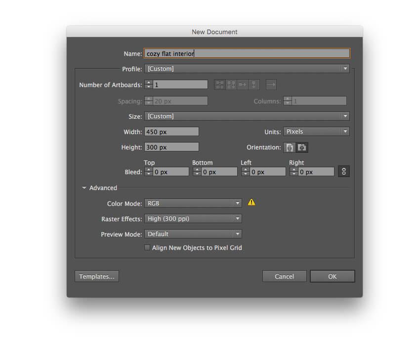 Tutorial Membuat Interior Flat Desain Flat di Adobe Illustrator CC 01