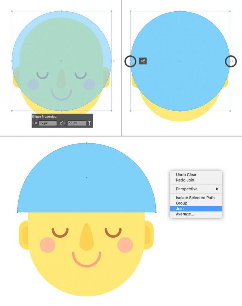 Tutorial Membuat Interior Flat Desain Flat di Adobe Illustrator CC 07