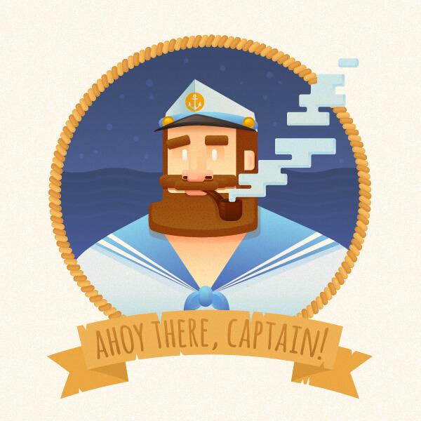 Tutorial Membuat Flat Design Potret Kapten di Adobe Illustrator CC 00